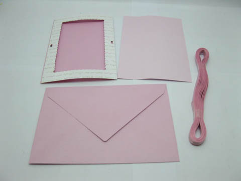 5Packs X 20Sets Light Pink Personlised Wedding Party Invitation
