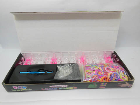 1Set Loom Bands Kit Rubber Bands Clips DIY Bracelet Making