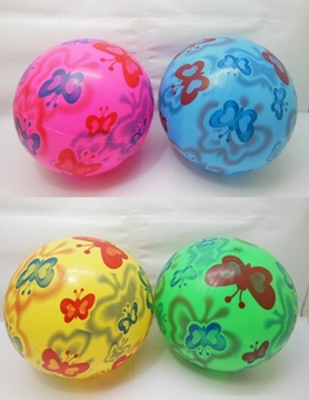 10 Inflatable Butterfly Bouncing Balls 22cm Dia