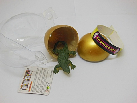 12 Golden Pet Hatching Crocodile Kids Egg