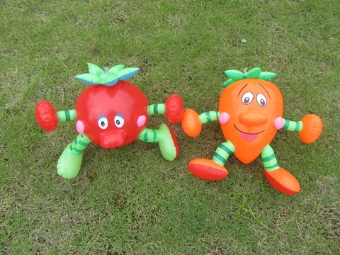 12X Inflatable Carrot Tomato Vegetable Doll Blow-up Toy
