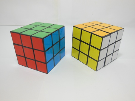 12 Plain Color Magic Cube Puzzler 53x53mm