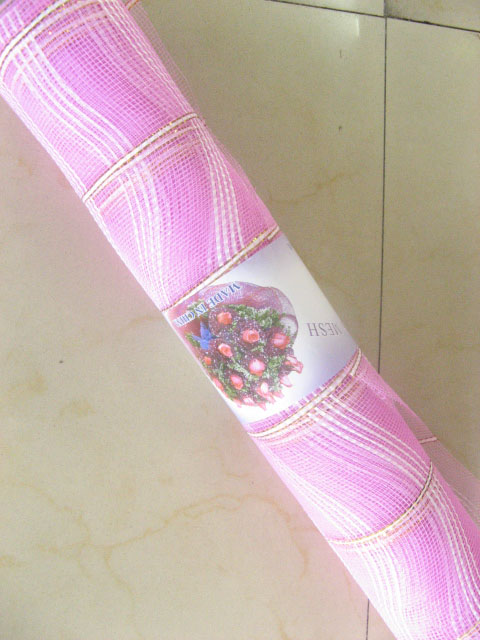 1Rolls X 7yards Pink Gauze Gift Packing Organza