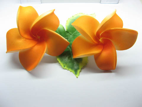 30 New Orange Fabulous Foam Frangipani Flower 8x3.5cm