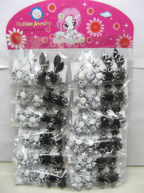 240pcs Barrette Hair Clips With Flower-2 Colors