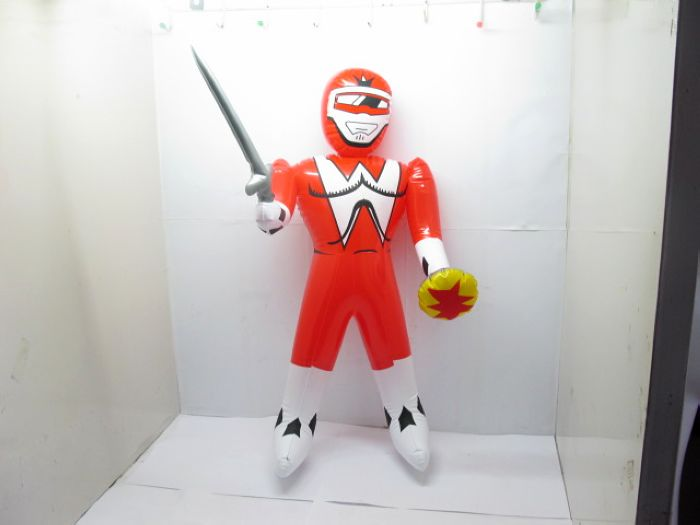 12 Red Inflatable Power Rangers w/ Sword Blow-up Toy