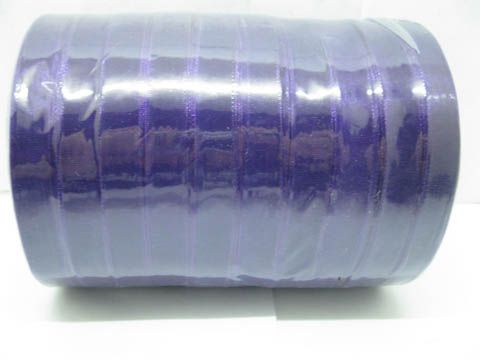 10Rolls X 50Yards Dark Purple Organza Ribbon 12mm