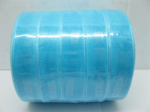 5Rolls X 50Yards Blue Organza Ribbon 18mm
