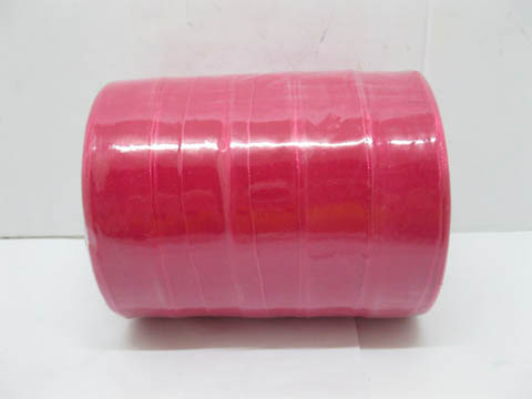 5Rolls X 50Yards Fuschia Organza Ribbon 25mm