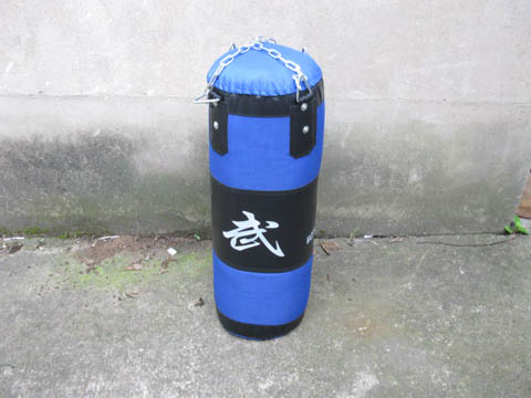 1X Blue Boxing Punching Bag Metal Chain 70x25cm