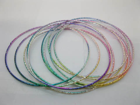1Pack X 12Sets Colorful Shiny Stylish Thin Bracelets