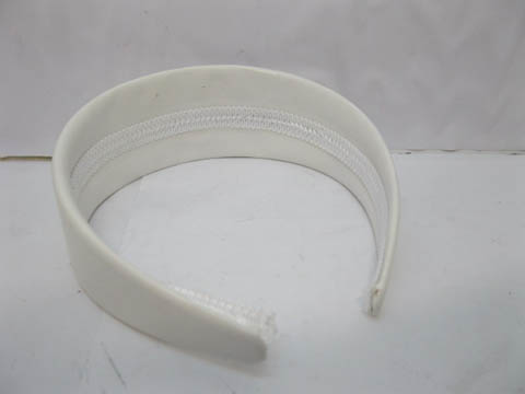 60Pcs New White Wide Headbands Leather Cover