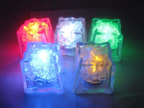 12Pcs Flashing Ice Cube Party Favor Submersible Reuse