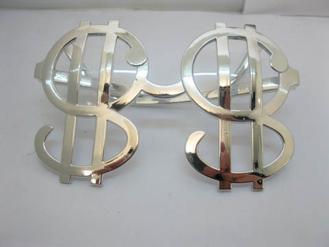 12 Sliver Big Daddy DOLLAR SIGN Toy Glasses
