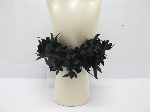 48 New Elastic Black Flower Hair Bands