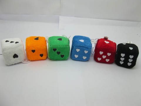 24Pcs Funny Sponge Materials Heart Dice with Sucker Mixed Colour