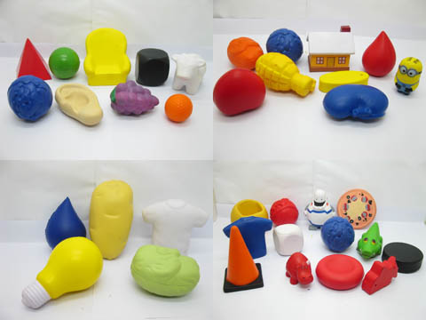 48Pcs PU Foam Anti-Stress Toys for Kids Assorted