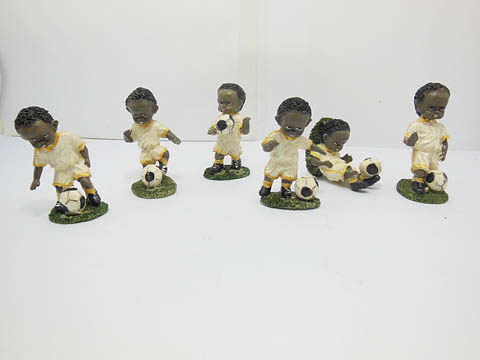 5Sets X 6pcs Football Action Figure Toys - White Uniform