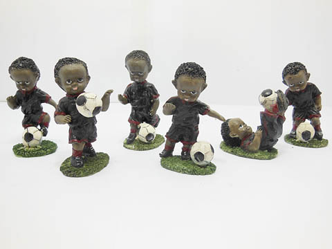 10Sets X 6pcs Football Action Figure Toys - Black Uniform