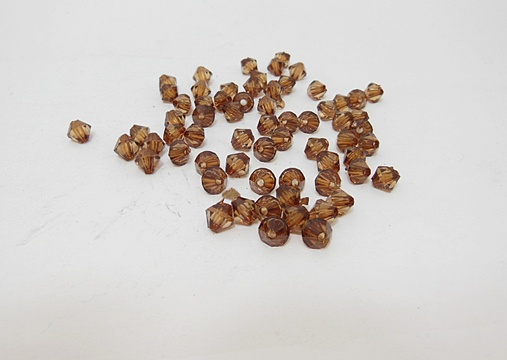 6200 Coffee Faceted Bicone Beads Jewellery Finding 6mm