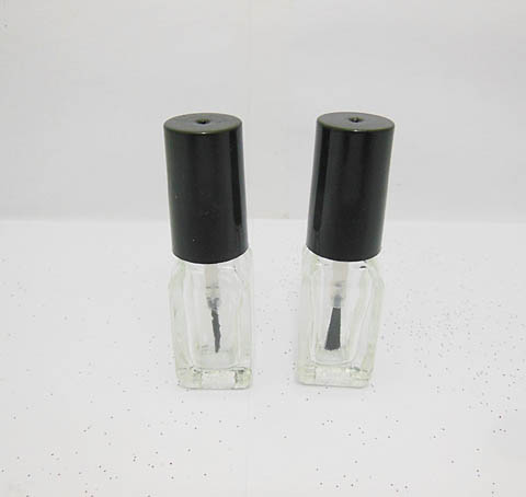 345Sets Clear Empty Glass Nail Polish Bottle 4ml