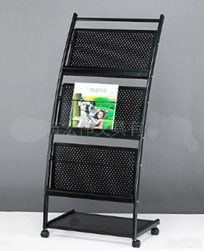 1X Black 3 Tiers Brochure Book Magazine Display Rack