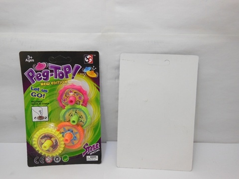 24Sheets x 4Pcs Speed Peg-Tops for Kids Mixed Colour
