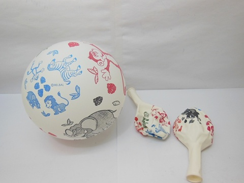 100 Jungle Animal White Base Balloons 30cm