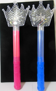 10X New Colourful Light Flashing Sticks Mixed - Clear Crown Top