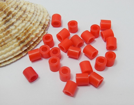 4200Pcs (250g) Craft Hama Beads Pearler Beads 5mm - Red