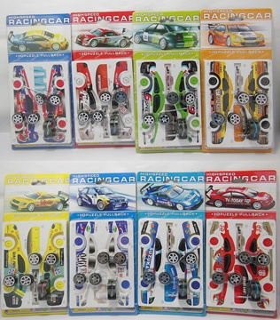 8Pcs Pull Back Race Racing Car Model Puzzle DIY Educational Toy
