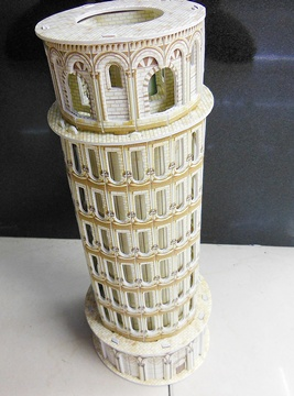 4Pcs 3D Foam Leaning Tower Model Puzzle DIY Educational Toy