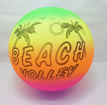10 Inflatable Rainbow Color Beach Volley Bouncing Balls