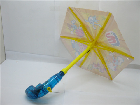 6X Cute Umbrella Shaped Water Gun Toy for Kids Mixed Colour