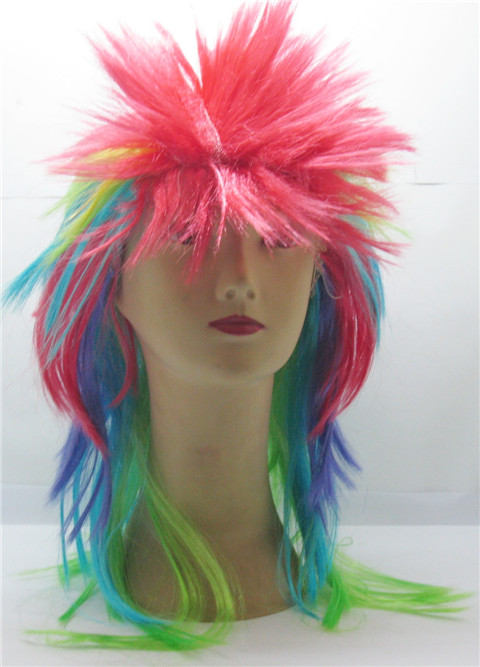 5X Multi Colored Fancy Dress Up Wigs Costume Party