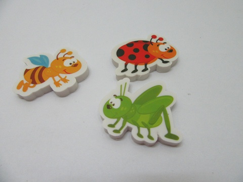 30 New Funny Insect Shape Erasers Assorted
