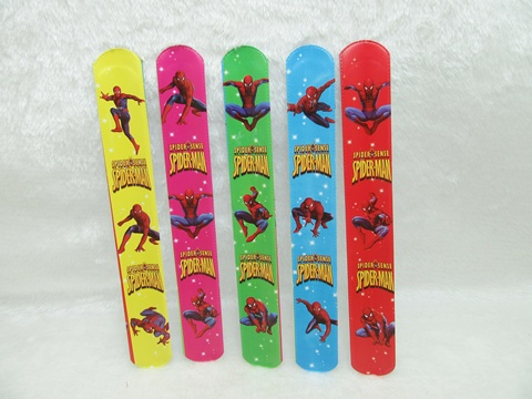 100 Spider-Man Reflective Magic Ruler Slap Band Bracelets