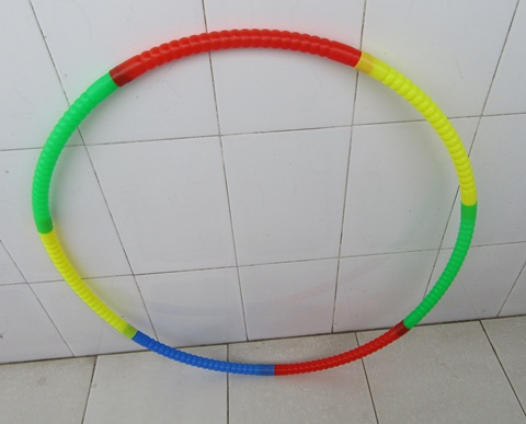 1X Foldable Plastic Hula Hoops Exercise Sports Hoop 72cm Dia