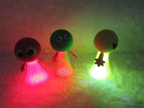 24Pcs Lovely Light Up Jump Elf Toys Mixed Color 85mm High