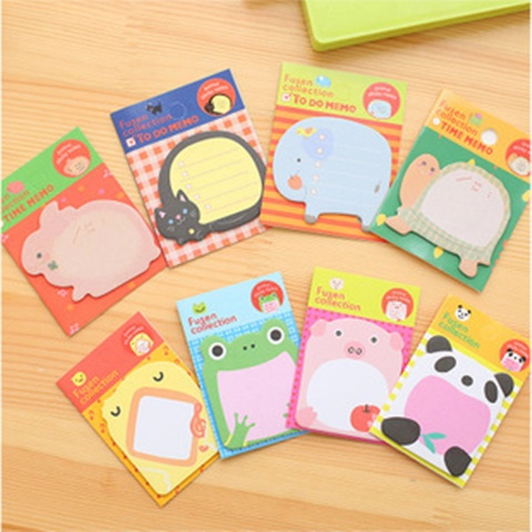80 Carton Animal Design Memo Pads Notebooks Assorted