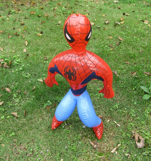 12X New Inflatable Spiderman Hero Blow Up Toy 39cm