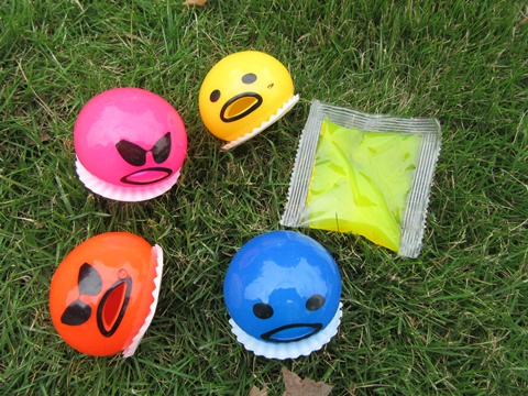12 Mad Face Sticky Splat Balls Mixed