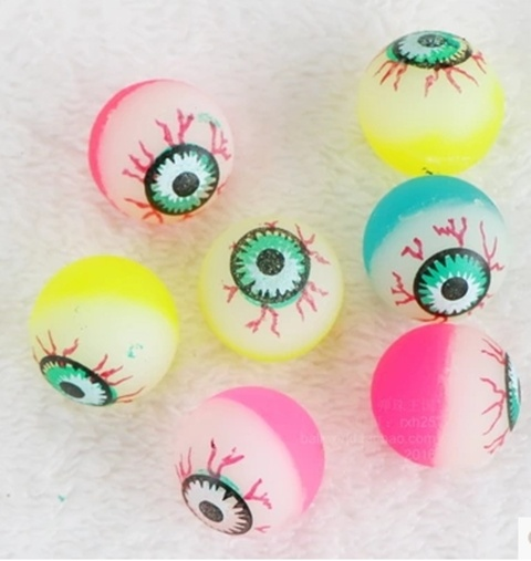 100X Scary Eyeball Rubber Bouncing Balls 24mm Mixed