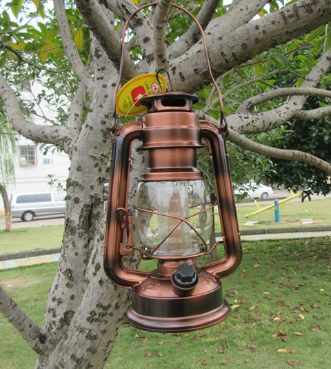 1X Light Up Outdoor Camping Lantern Lamp Torch 12Led Copper