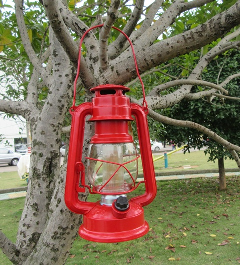 1X Light Up Outdoor Camping Lantern Lamp Torch 12Led Red