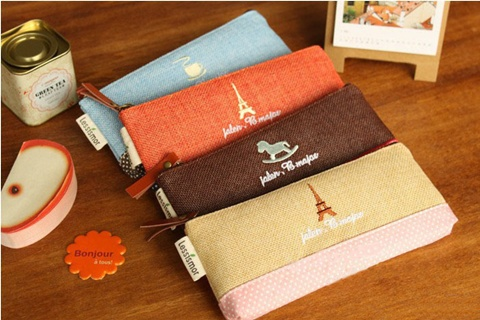 10 New Hemp Pencil Case Zipper Bag Makeup Bag Pouch Purse