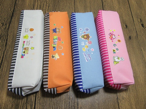 12 New Carton Pencil Case Zipper Bag 4 Colors