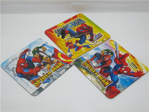 100Sheets x 3Pcs Spider-man Cardboard Jigsaw Puzzle Education To