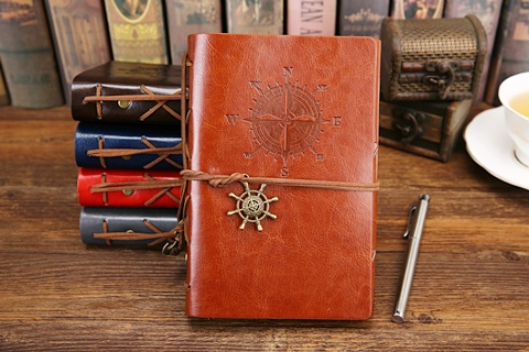 1X Pirate Compass Blank Memo Notebook Diary Journal Schedule