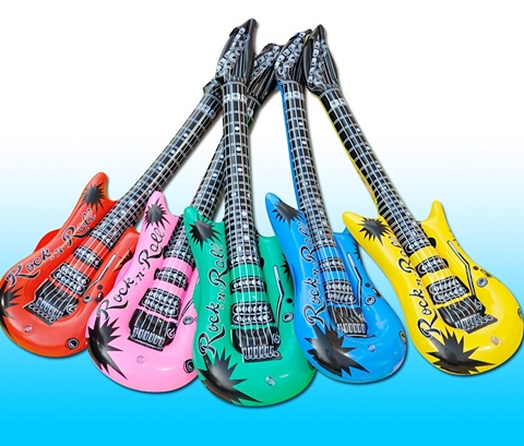 12 Huge Jumbo Inflatable Guitar Inflate Blow-up Toys